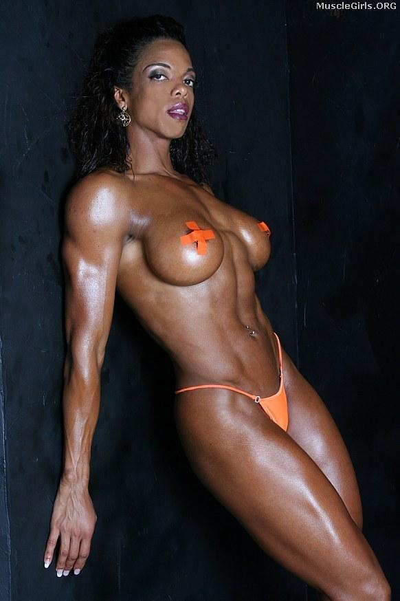 Black female fitness body women was