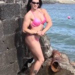 Female bodybuilder nude in public place video
