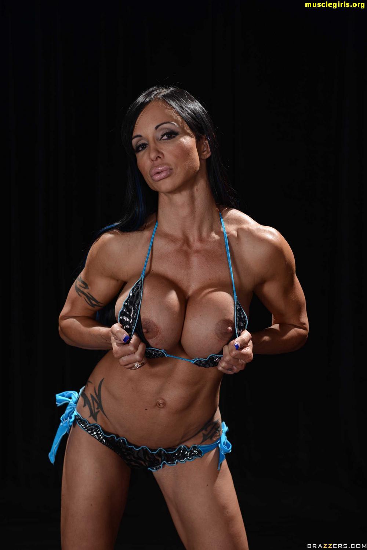 buff female breasts naked