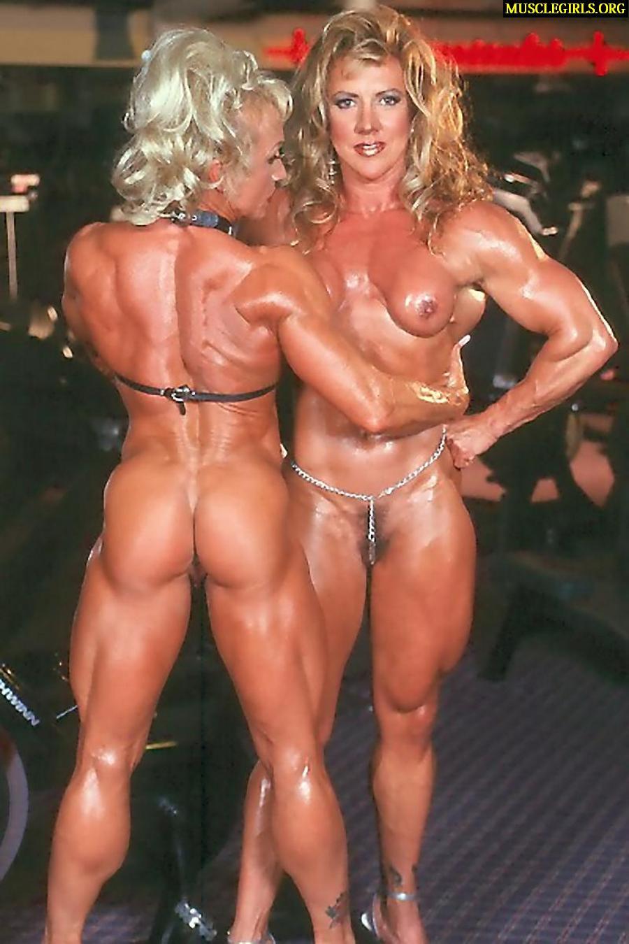Hot Kiss Female Body Builder Maria Daria